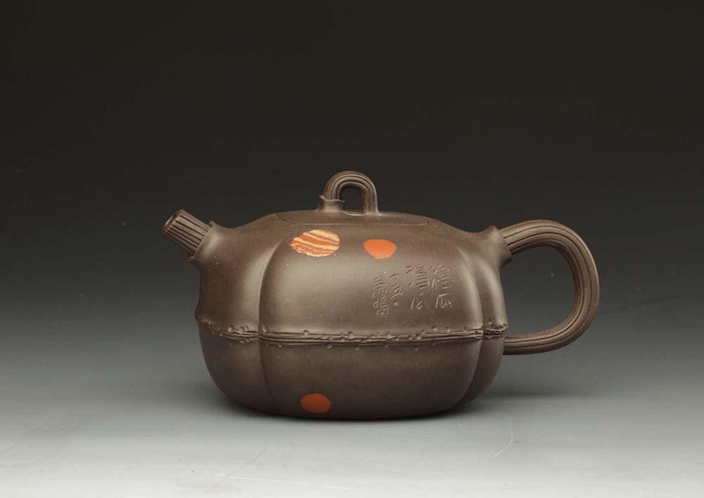 现代吴鸣制种瓜得瓜紫砂壶