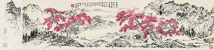 A3894 現代徐風臨石溪山水圖鏡片1.jpg