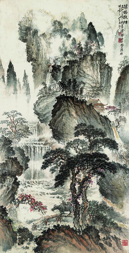 A 3877 現代徐風溪橋牧歸圖軸1.jpg